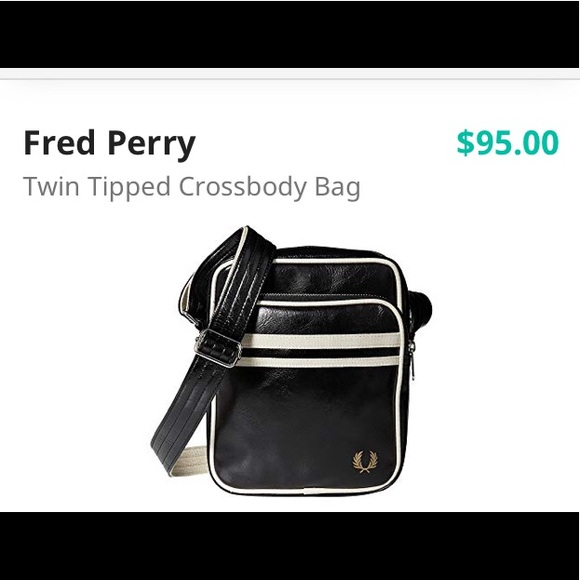 eb7762e7c Fred Perry Bags | Twin Tipped Crossbody Bad Nwt | Poshmark